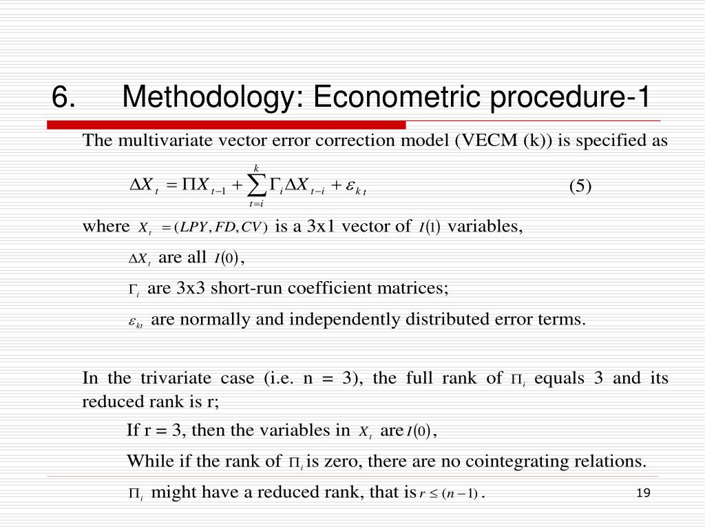 6.Methodology: Econometric procedure-1