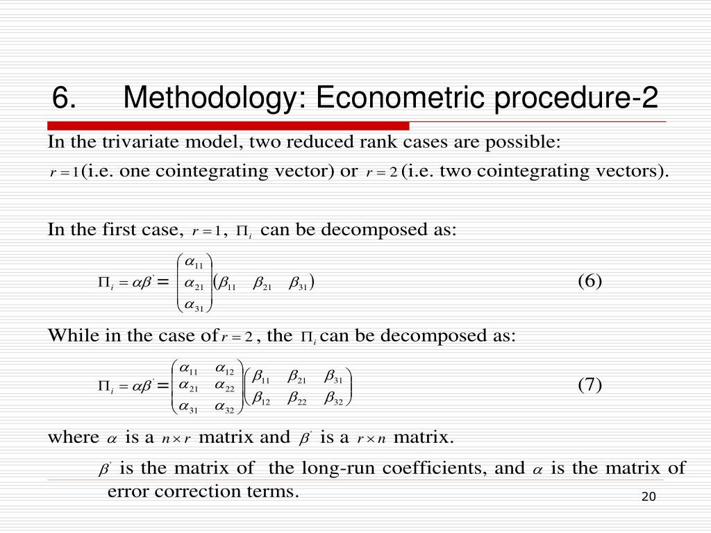 6.Methodology: Econometric procedure-2