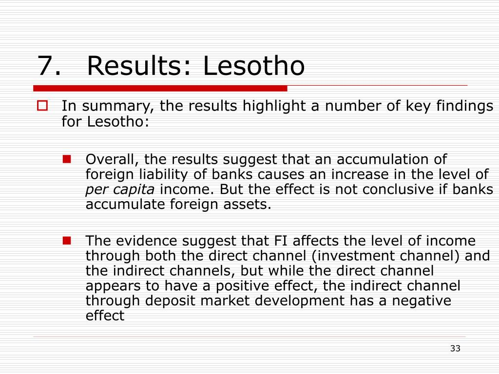 7.Results: Lesotho