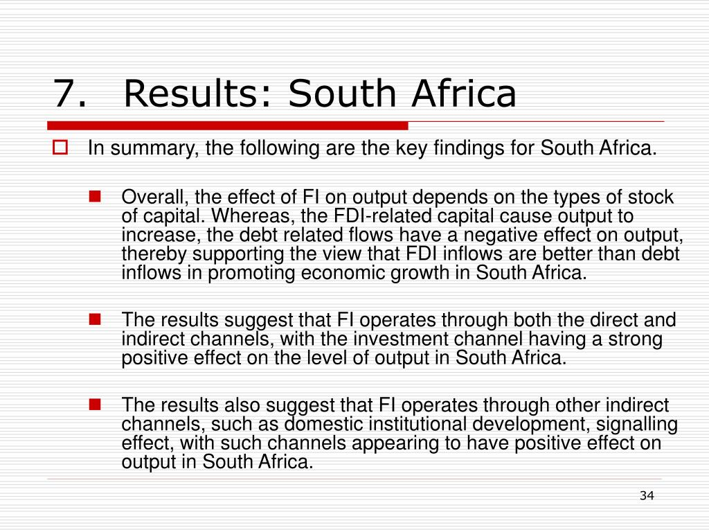 7.Results: South Africa