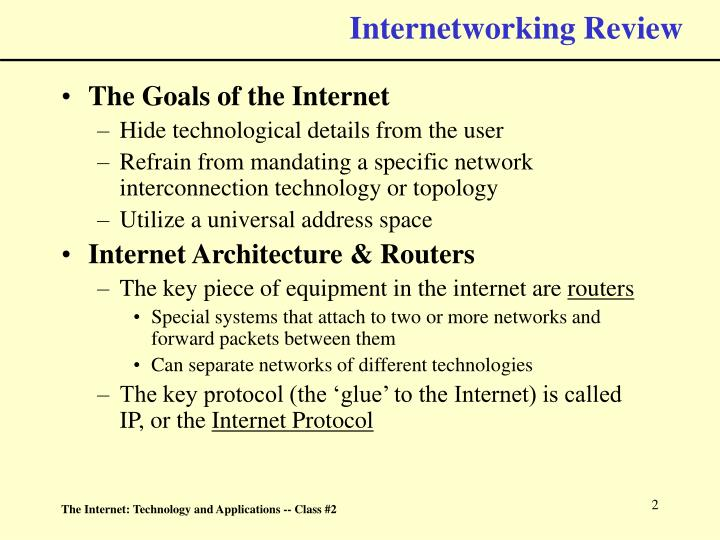 Internetworking review