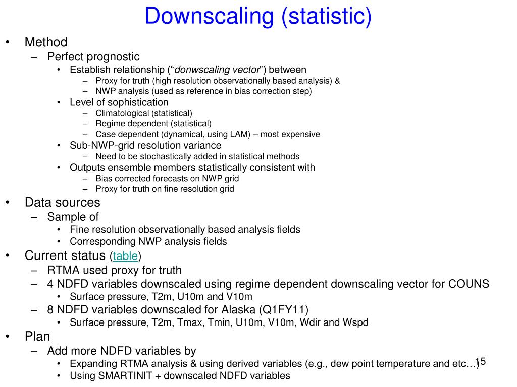 Downscaling (statistic)