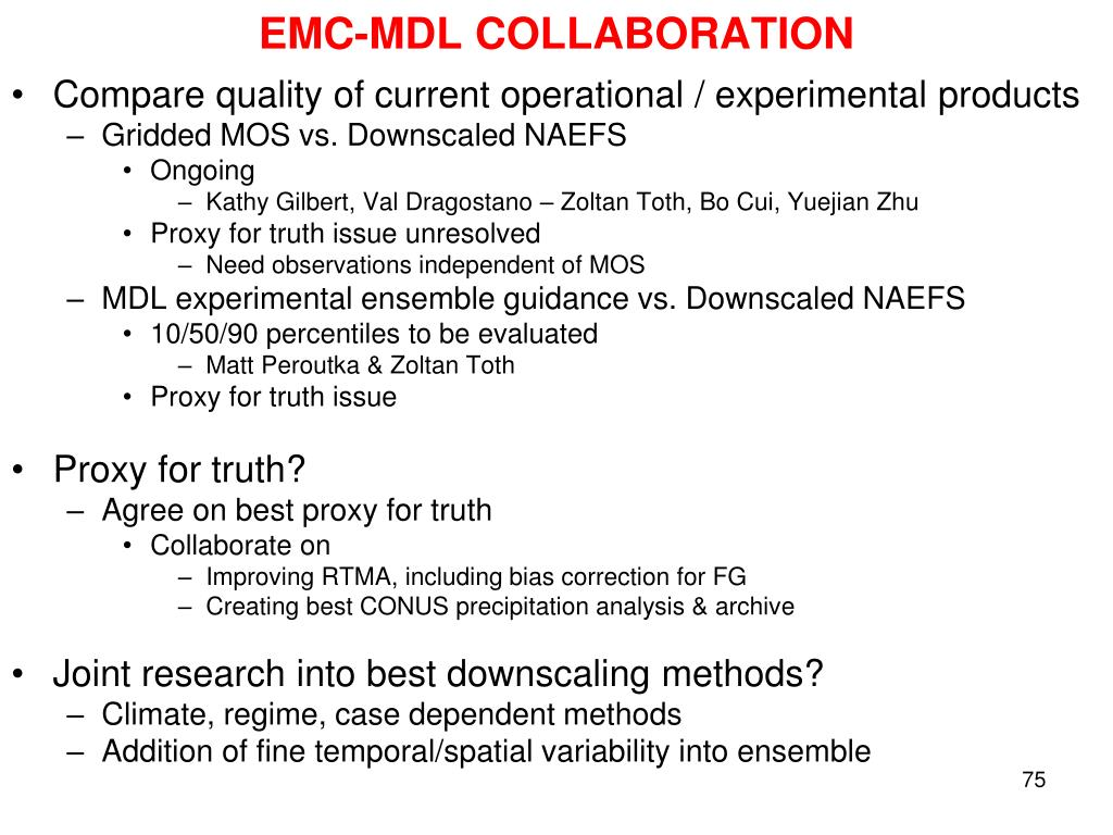 EMC-MDL COLLABORATION