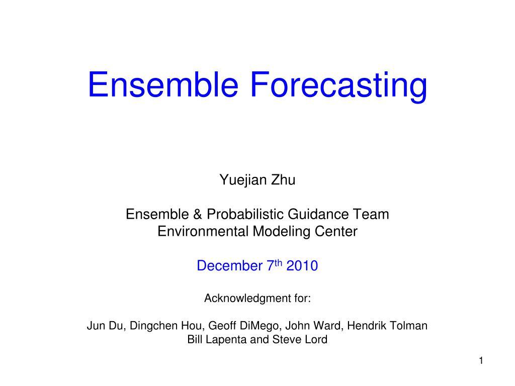 ensemble forecasting