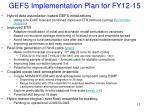 gefs implementation plan for fy12 15
