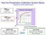 how the precipitation calibration system works upgrade from 2004 implementation58