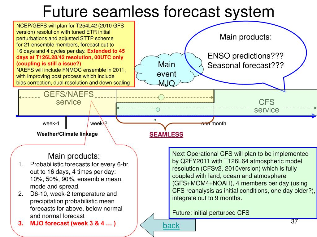Future seamless forecast system