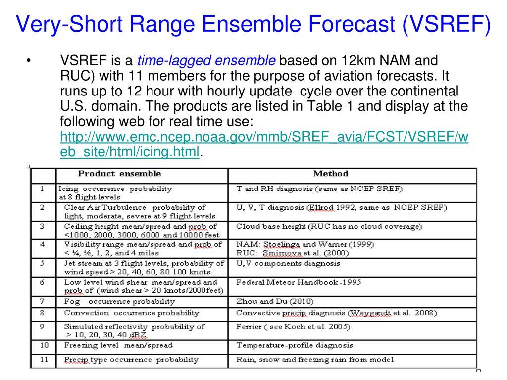 Very-Short Range Ensemble Forecast (VSREF)