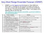 very short range ensemble forecast vsref