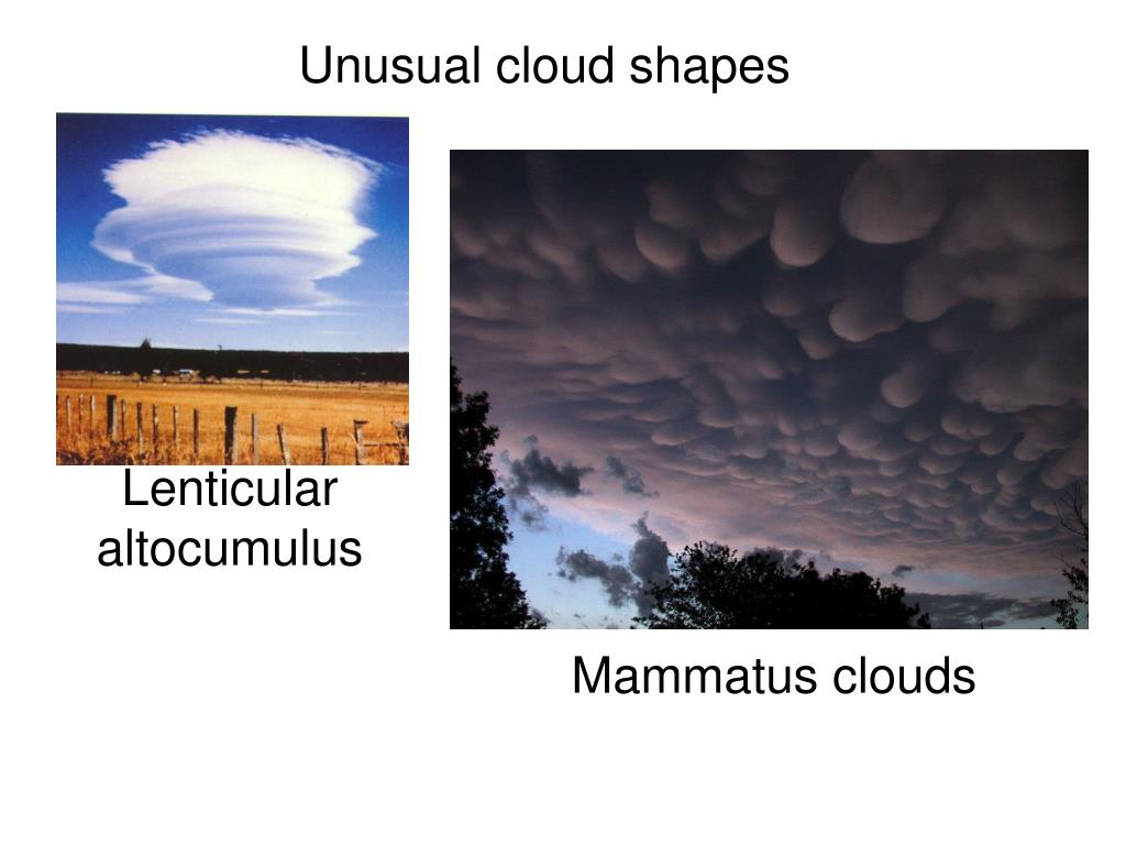 Unusual cloud shapes