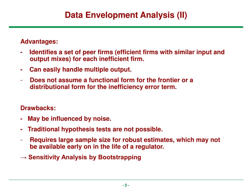Data Envelopment Analysis (II)