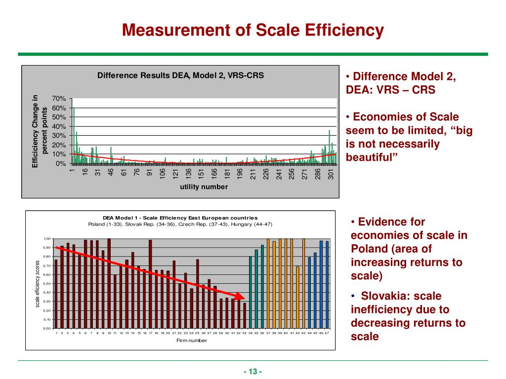 Measurement of Scale Efficiency