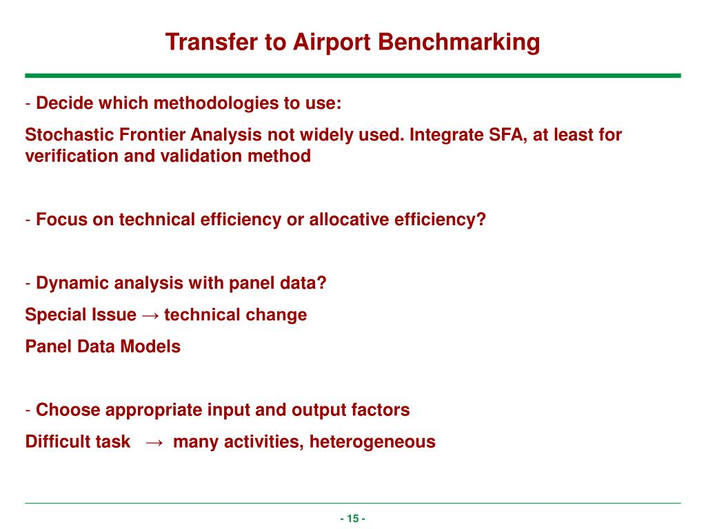 Transfer to Airport Benchmarking