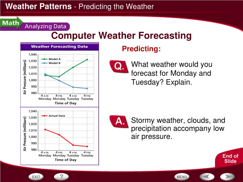 Stormy weather, clouds, and precipitation accompany low air pressure.