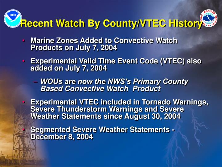 Recent watch by county vtec history