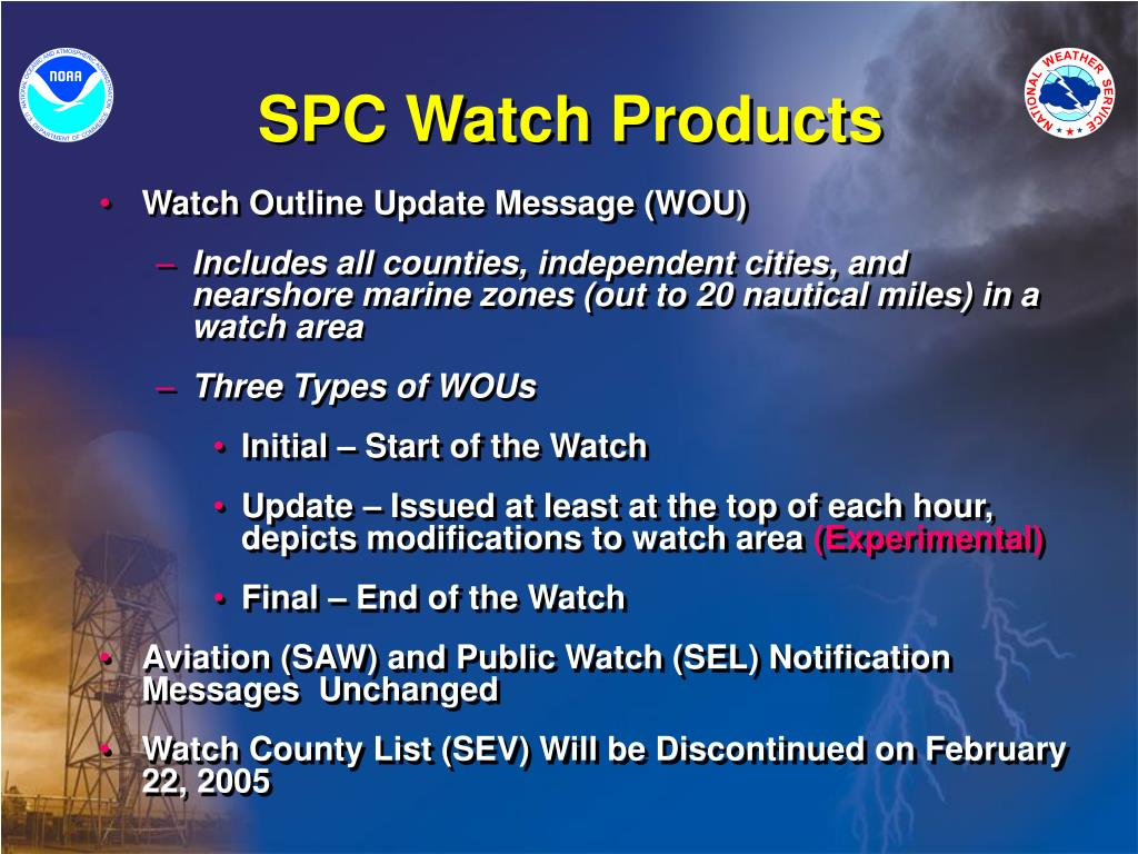 SPC Watch Products