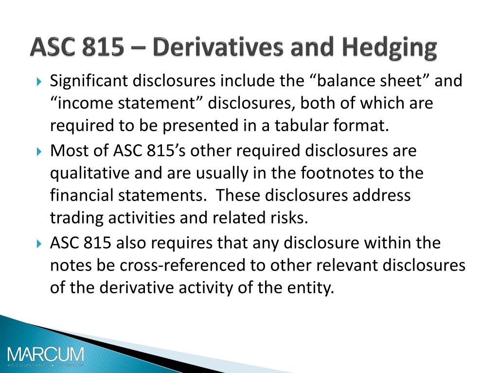 asc 815 Derivatives and hedging - FOREX Trading