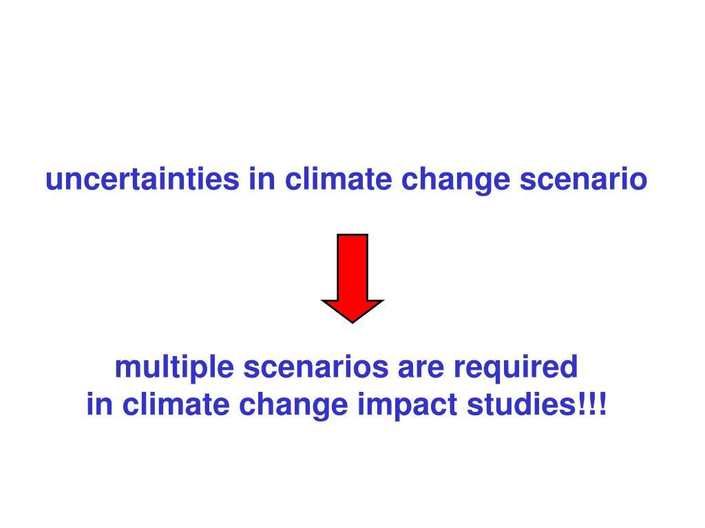 uncertainties in climate change scenario