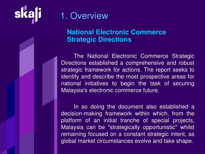 National electronic commerce strategic directions