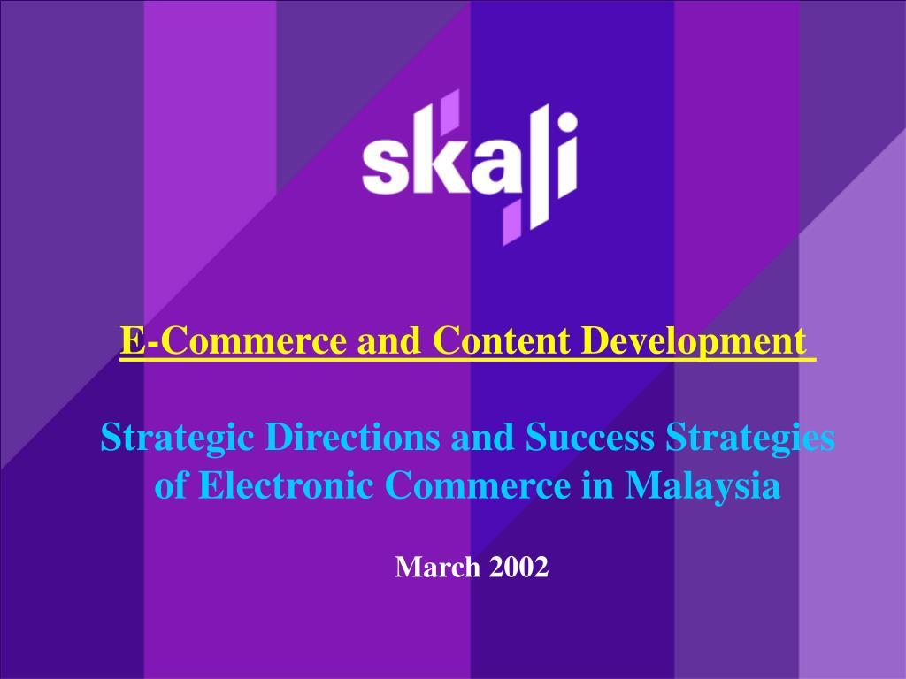 E-Commerce and Content Development