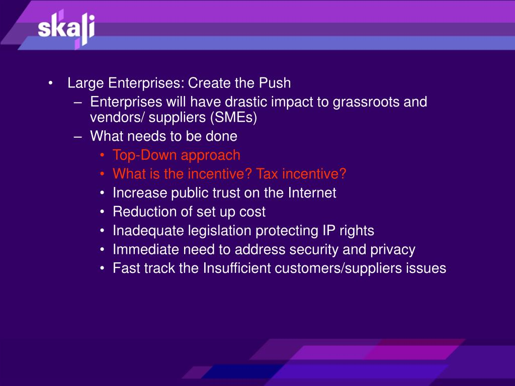 Large Enterprises: Create the Push