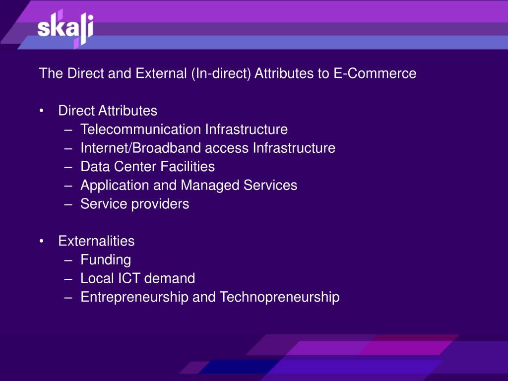 The Direct and External (In-direct) Attributes to E-Commerce