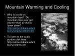 mountain warming and cooling