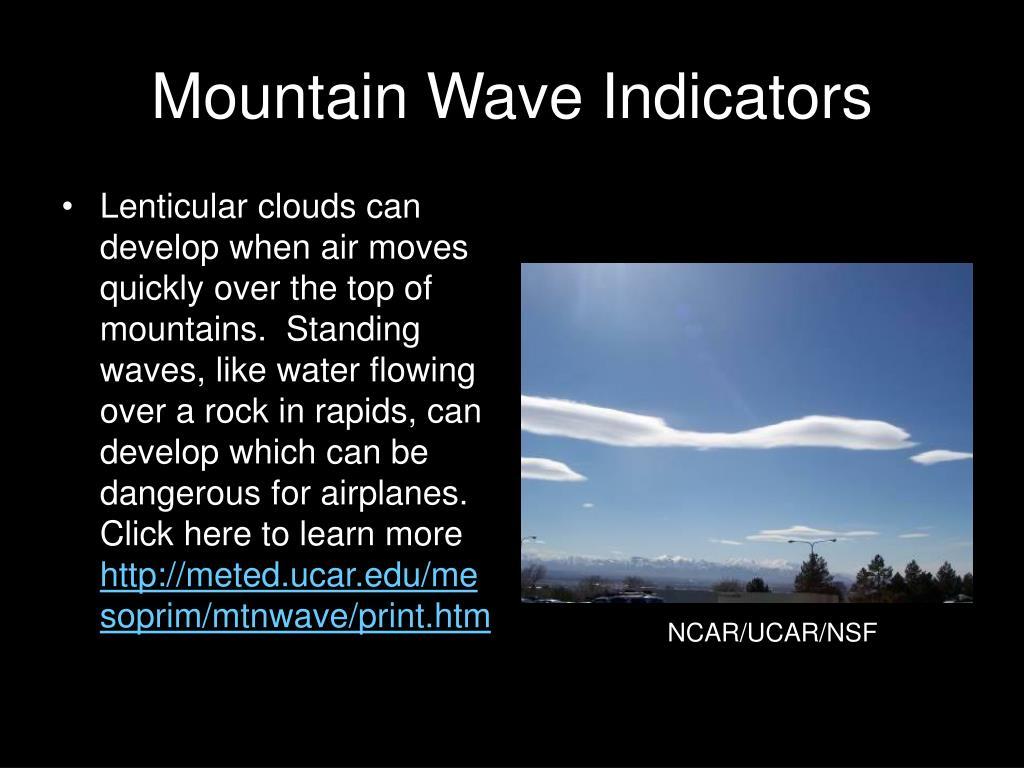 Mountain Wave Indicators