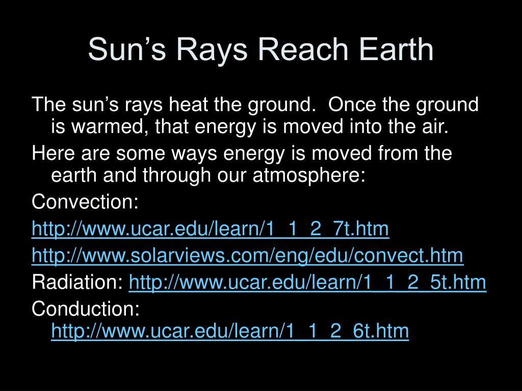 Sun's Rays Reach Earth