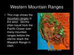 western mountain ranges