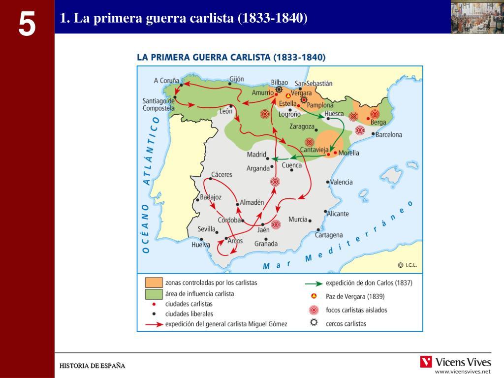 1. La primera guerra carlista (1833-1840)