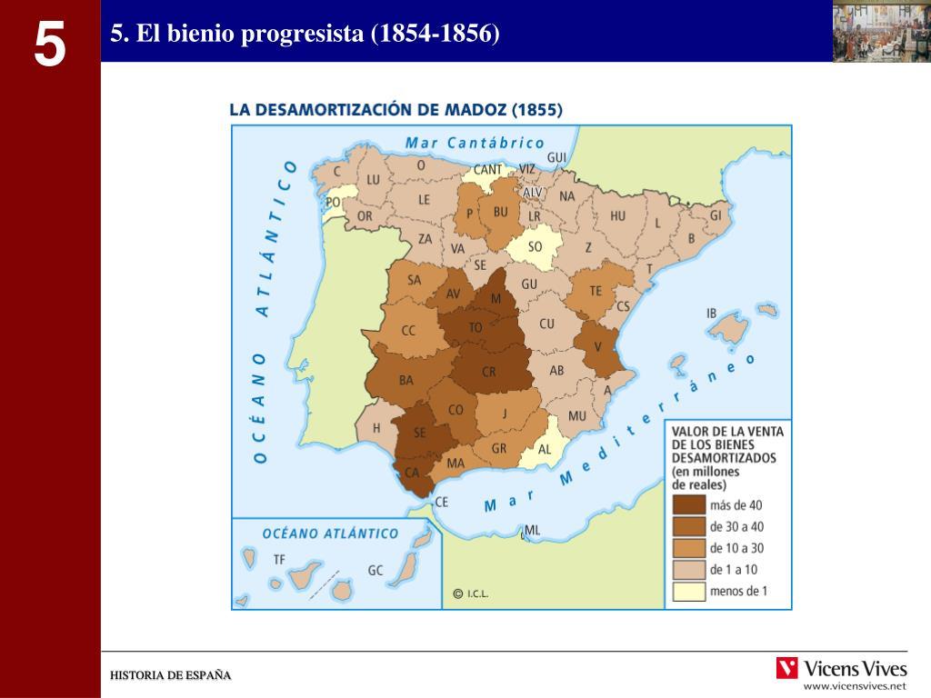 5. El bienio progresista (1854-1856)