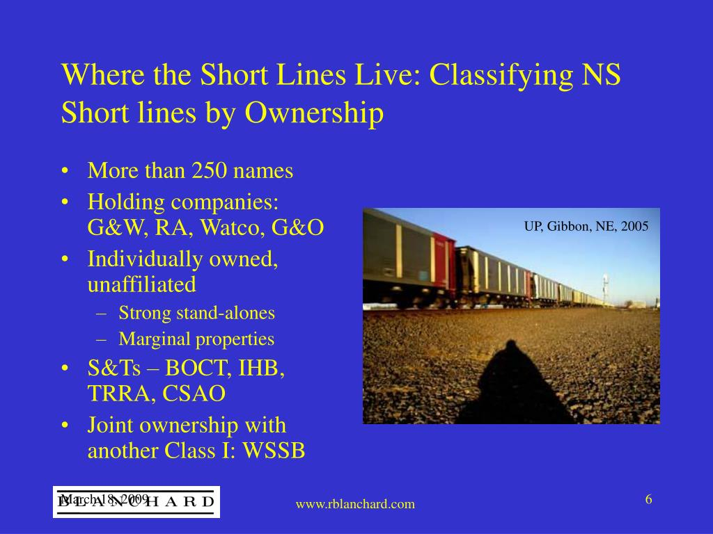 Where the Short Lines Live: Classifying NS Short lines by Ownership