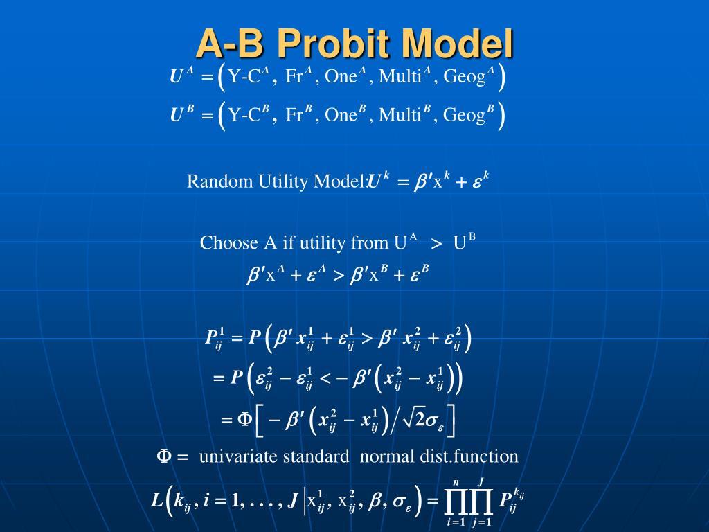 A-B Probit Model