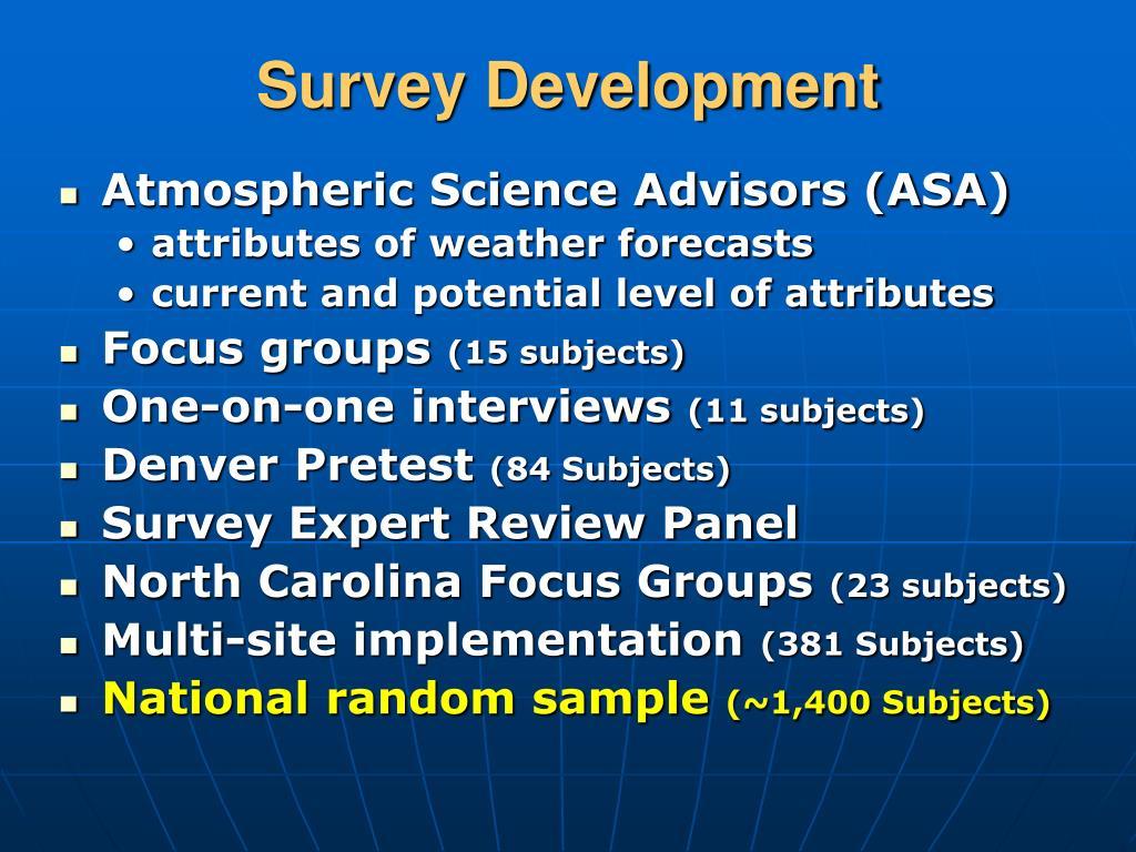 Survey Development