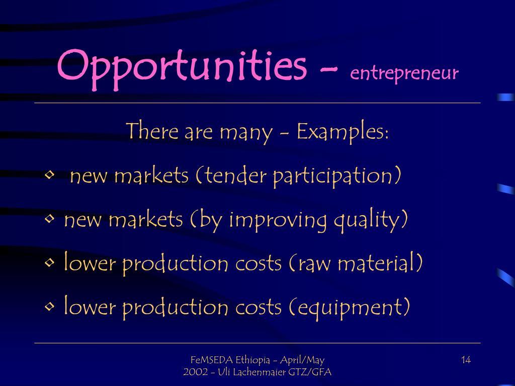 Opportunities -