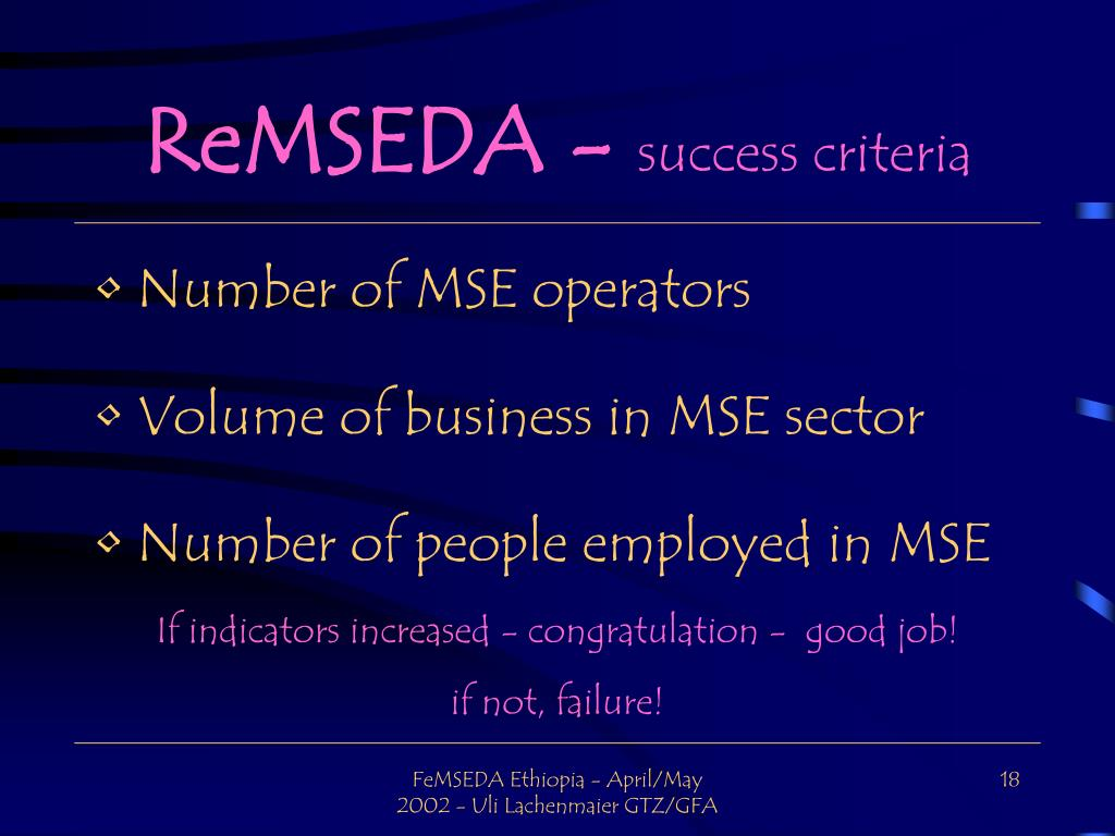 ReMSEDA -