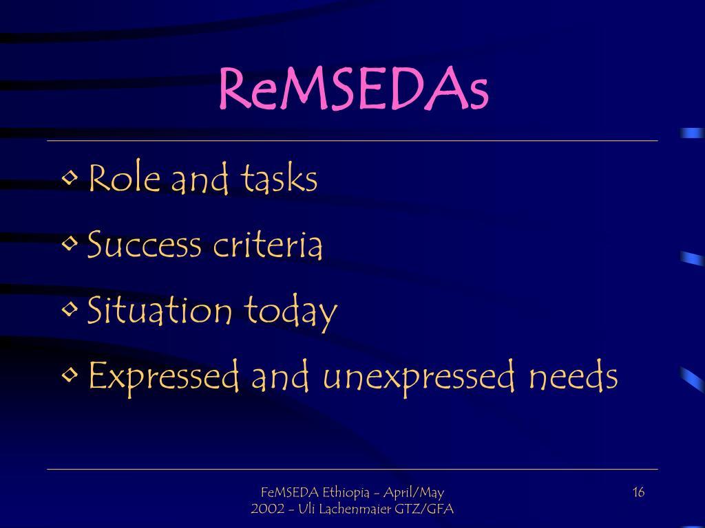 ReMSEDAs