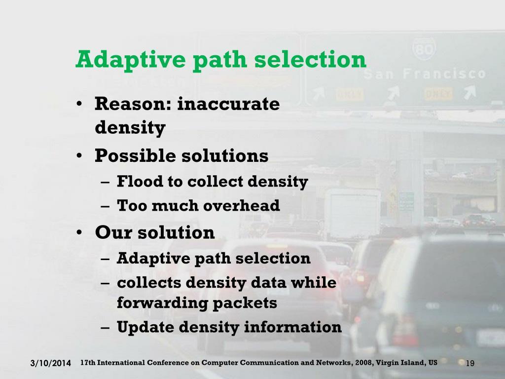 Adaptive path selection