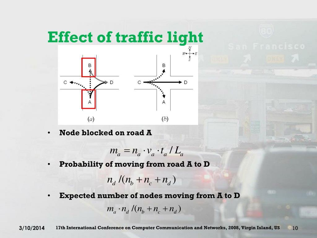 Effect of traffic light