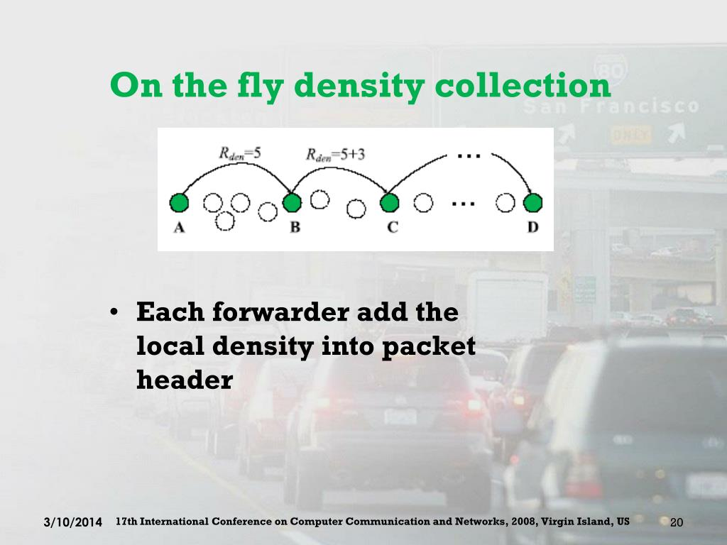 On the fly density collection
