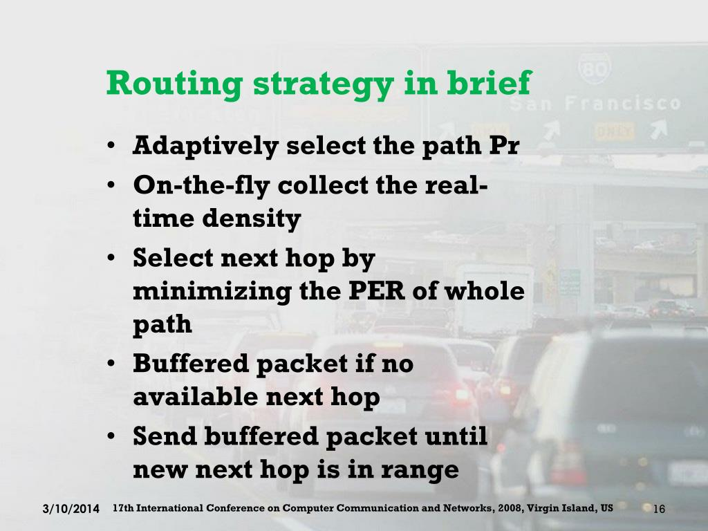 Routing strategy in brief
