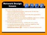 network design issues