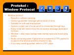 protokol window protocol