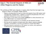 gap 2 the overall impacts of heis on other regions and the nation