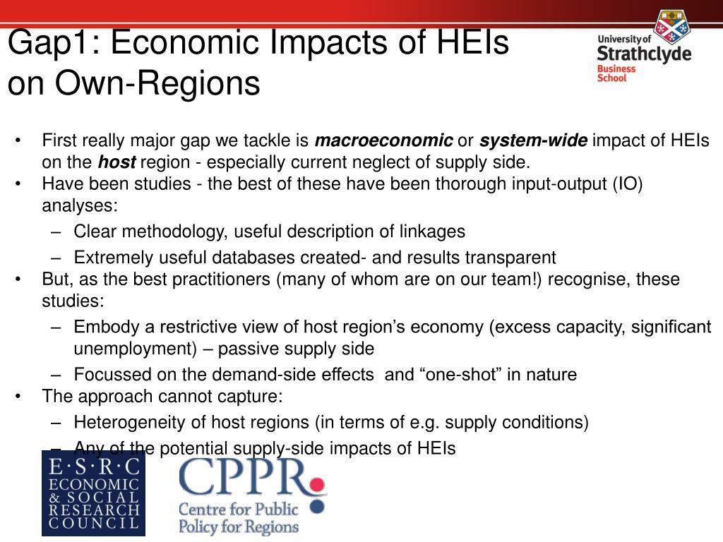 Gap1: Economic Impacts of HEIs