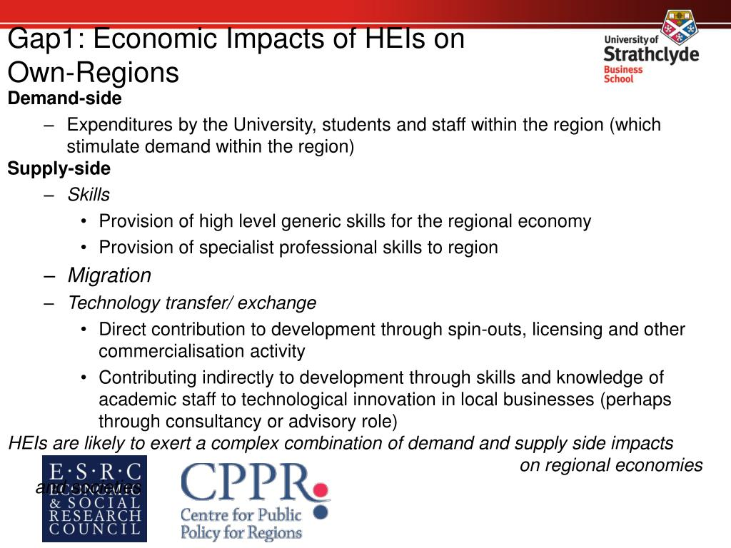 Gap1: Economic Impacts of HEIs on
