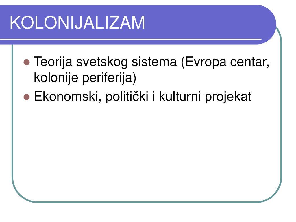 KOLONIJALIZAM