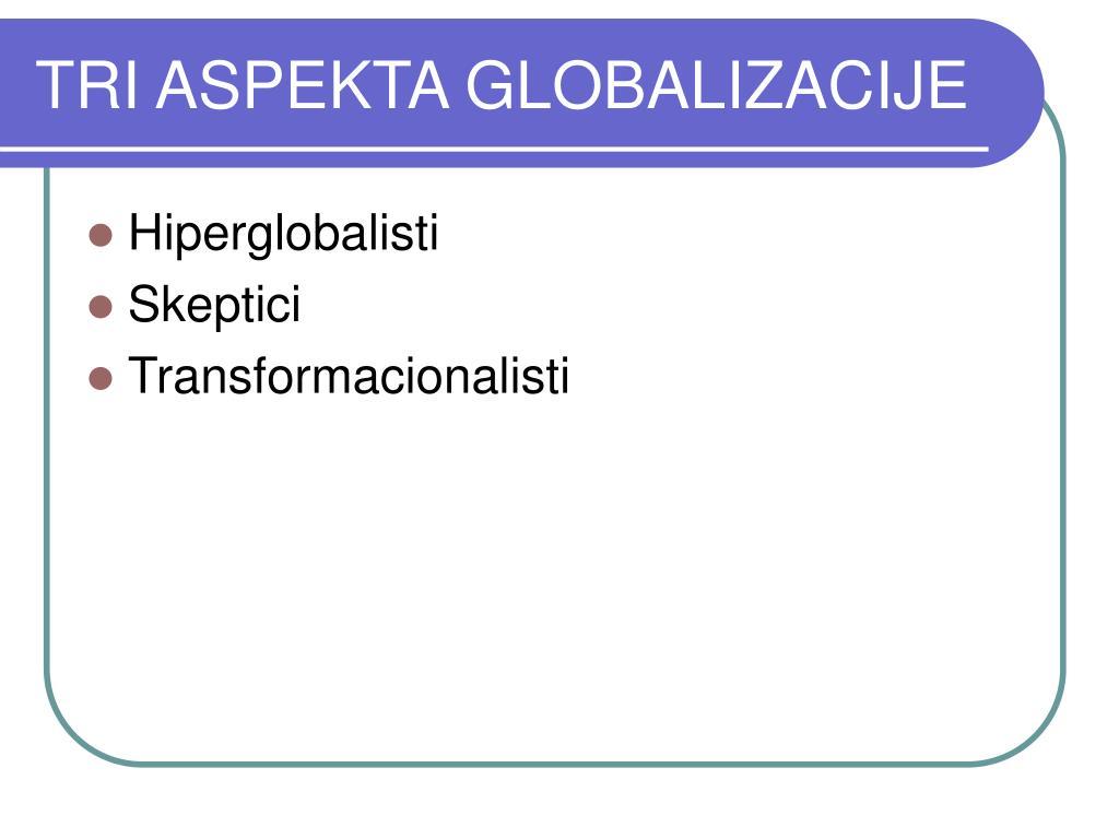 TRI ASPEKTA GLOBALIZACIJE