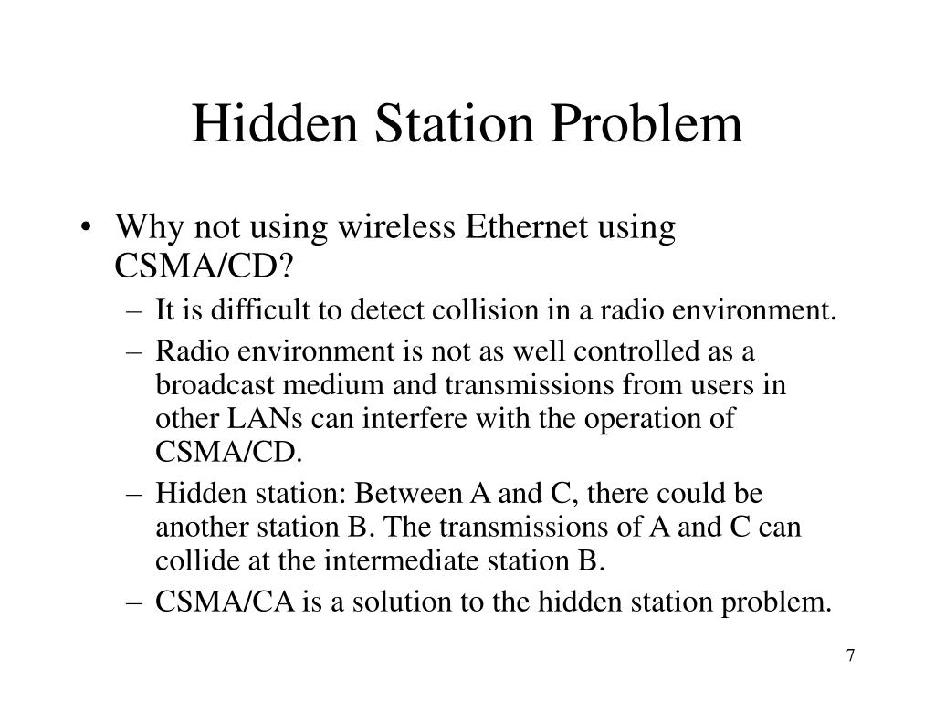 Hidden Station Problem